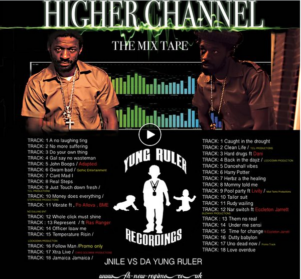 Higher Channel the Studio one mix cd by J-Nile the Yung Ruler Jnile vs Yung Ruler on this one