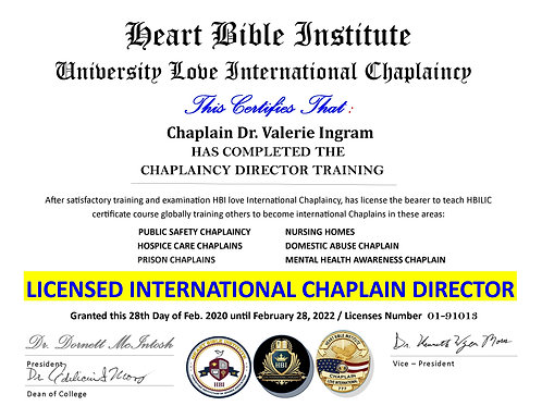 Chaplaincy Chapter