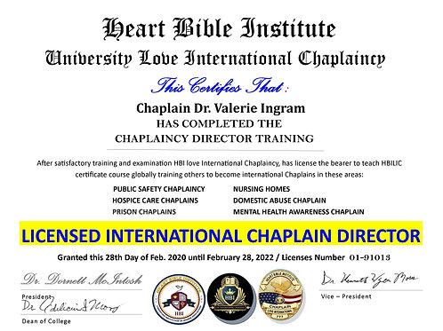 Chaplaincy Chapter