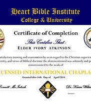 Chaplain Certificate
