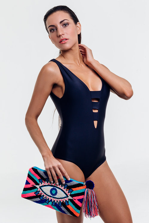 Lola complete one piece swimsuit in black