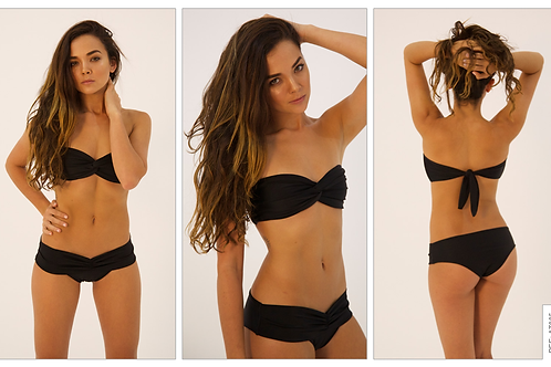 Black strapless top/black bottom (sold separately)