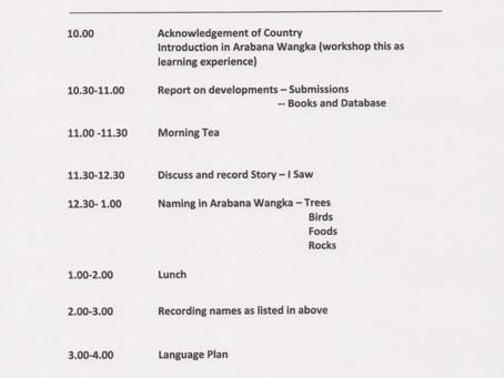 Arabana language workshop