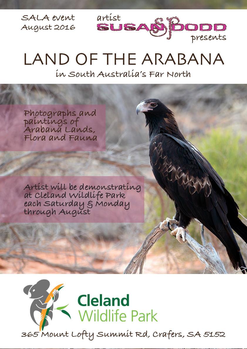 Land of the Arabana Cleland Wildlife Park Poster