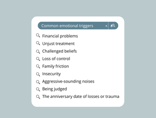Get In Touch With Your Emotional Side;  Understanding Emotional Triggers and Learning How to Cope.