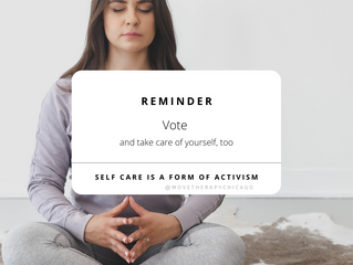 Get Out and Vote and Take Care Of Yourself, Too.