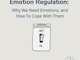 Emotion Regulation: Why We Need Emotions, and How To Cope With Them