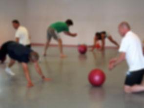 Sportende mensen, groepsles