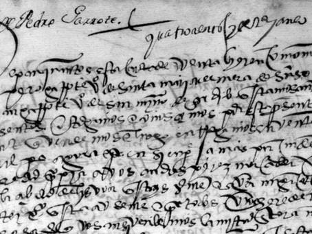 Documentos de los Garrote del siglo XVI