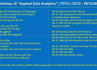 """Workshop về """"Applied Data Analytics"""" 23-29/12/2018"""