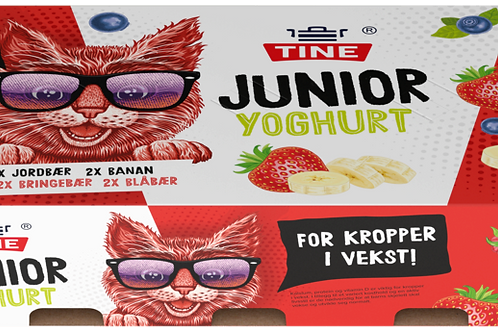 TINE Junior Yoghurt Frukt & Bær (8 x 125 g)