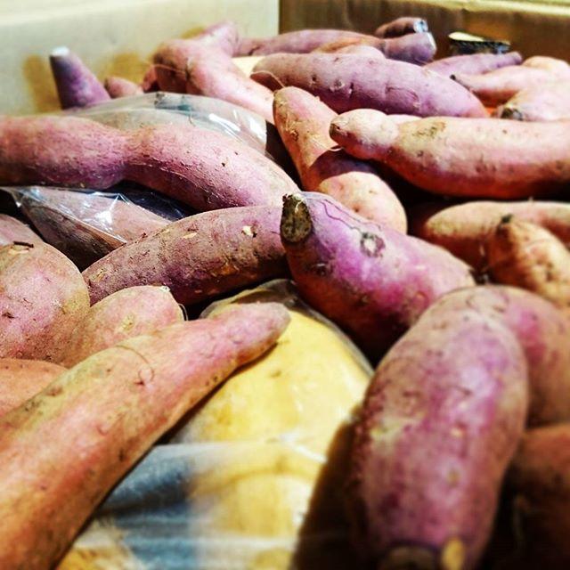 19収穫祭のお芋きましたー__#nov #収穫 #potato #カフェ #cafe #coffee #asakusa #浅草 #sweet #紅はるか #安納芋 #黄金千貫 #鹿児島 #コーヒー #
