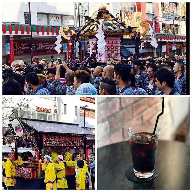 祭りなんだからね!暑いから。水出しコーヒー冷えてます!__#icedcoffee #pourover #coldbrew #coffee #asakusa #浅草 #hotdog #splendor