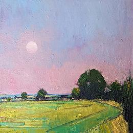 Emerson Mayes - Full Moon, Late Summer, oil on board, 29x29cm, £975 - Copy.jpg
