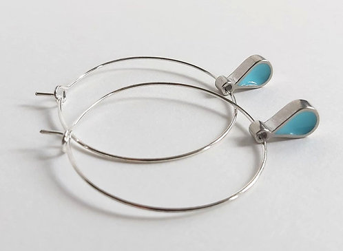 Summer Rain Hoop Earrings (lg133t)