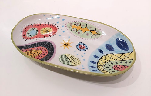 Oval Dish, Two Footed