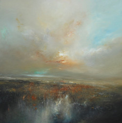 Rusty Heather Oil on board  Image size 80 x 80 framed to 97 x 97 cm outer £1550.00