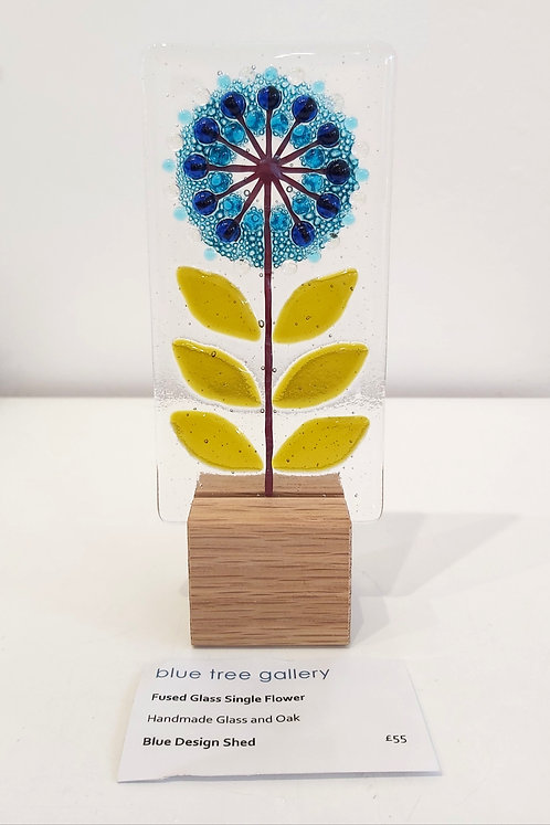 Fused Glass Single Flower
