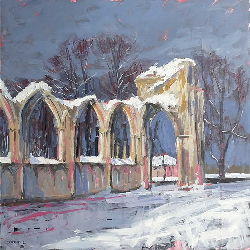 York Abbey In The Snow