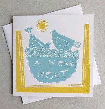 New Home Linocut Card