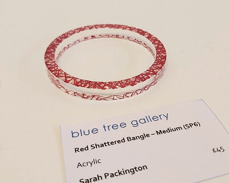 Red Shattered Bangle, Medium (SP6)