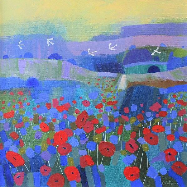 dales-poppy-trail-acrylic-canvas-40x40cm