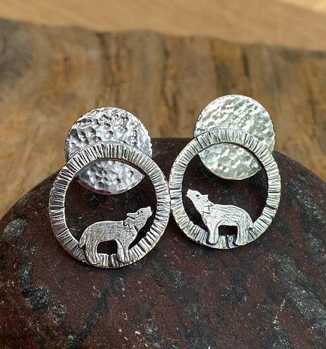 Lunar Wolf Stud Earrings (LH17)
