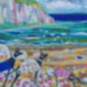 Claire West beach buddies-acrylic canvas