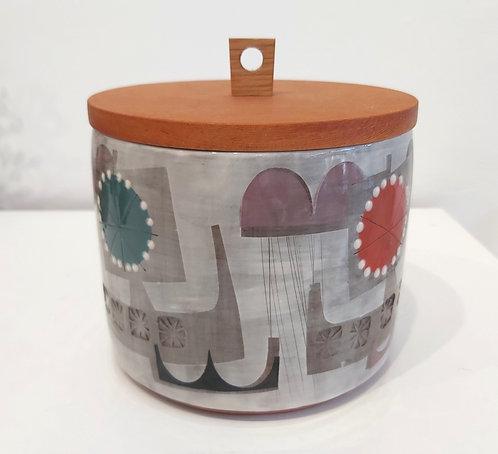 Flower Birlin Lidded Jar