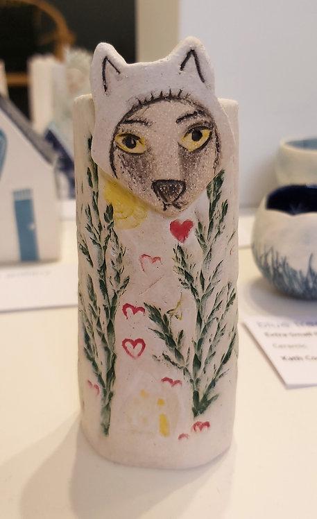 Mr Wolf Bud Vase