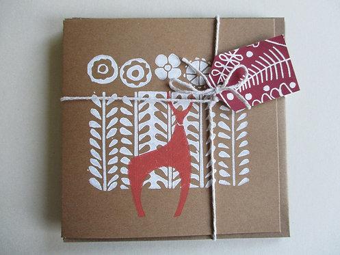 Pack of 3 Handmade Christmas Cards - Deer
