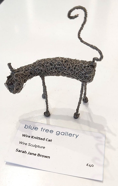 Wire Knitted Cat (Standing)