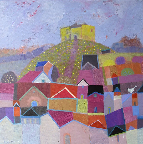 spring-time-cliffords-tower-acrylic-canv