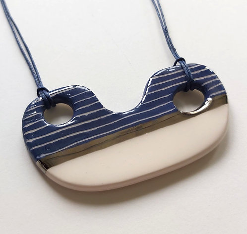 Boat With Holes, Statement Necklace (ic23)