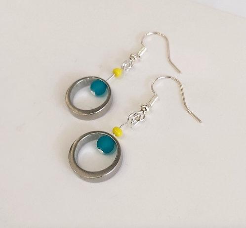 Salt Stack Drop Earrings (EC130Y)