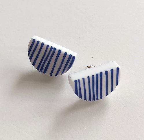 Line Up Stud Earrings, blue (sp21)