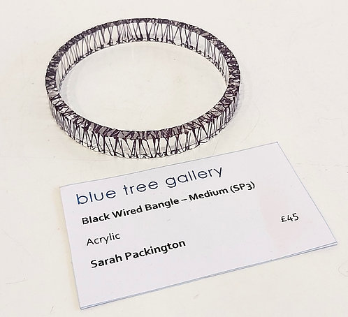 Black Wired Bangle, Medium (SP3)