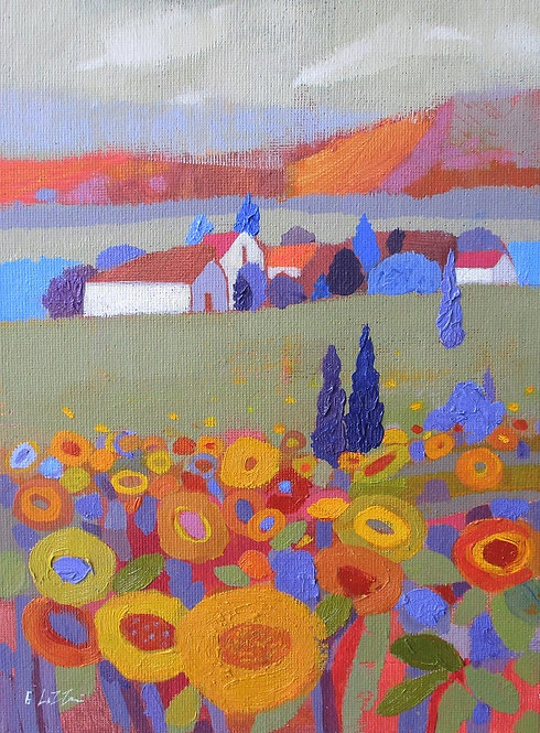 *SOLD* Sunflowers Tuscany