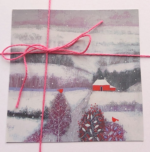 Pack of 3 Snow Cottage Cards