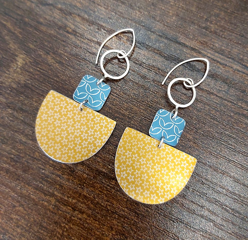 Coloured Statement Dangle Earrings
