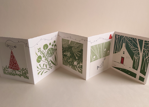 *SOLD* Hand Printed Concertina Book