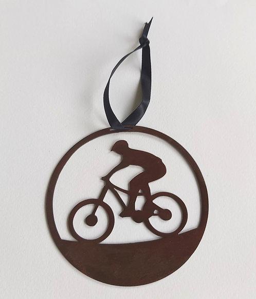 Bike Ride Round Hanging Decoration