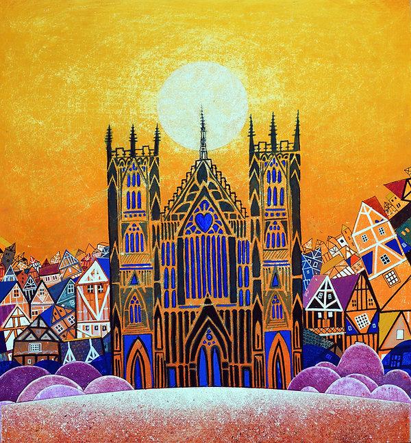 York Minster, mixed media, 50 x 55 cm £7