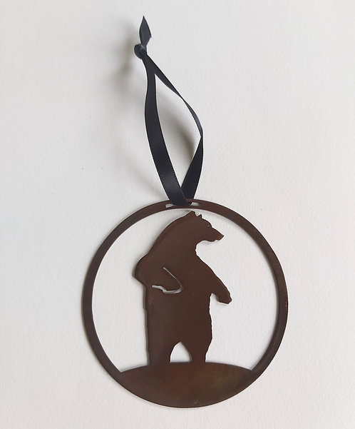 Bear Round Hanging Decoration
