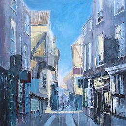 Sunny Morning in York, 80 x 80cm, acryli