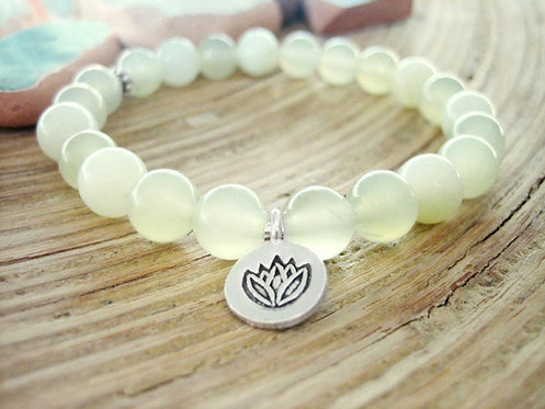 New Jade Lotus Bracelet