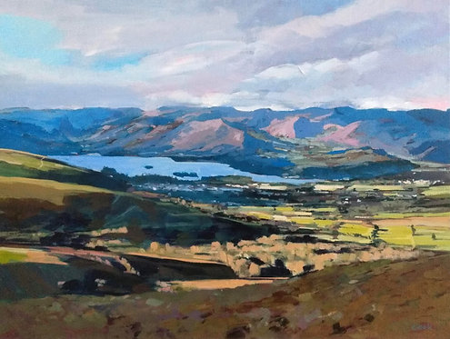 Derwent Water and Cat Bells from Skiddaw