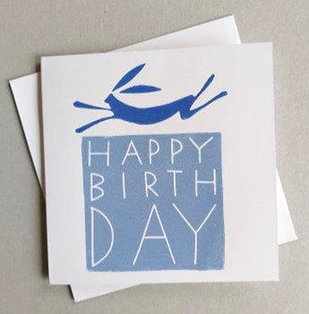 Birthday Linocut Card