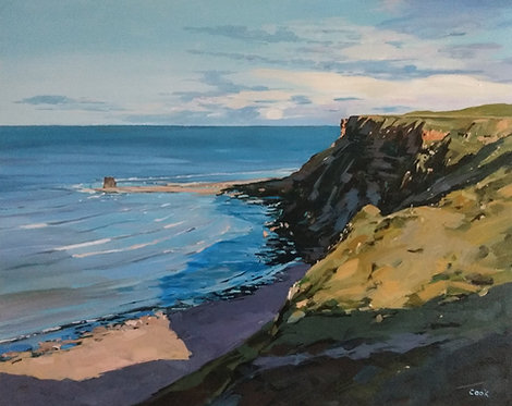 *SOLD* A sunny evening at Saltwick Bay, North Yorkshire