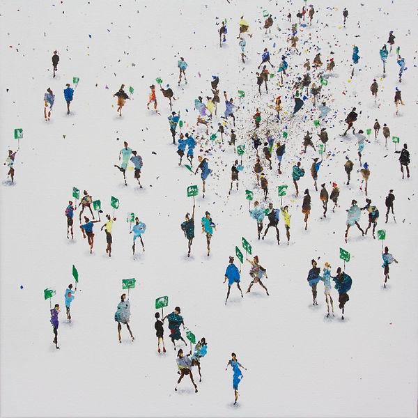 Green_Protest,_Acrylic,_61_x_61cm,_£995.